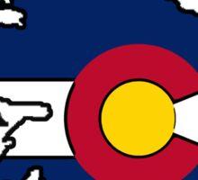 Colorado flag Ireland outline Sticker