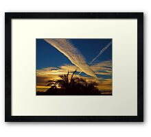 Jet Trails Framed Print
