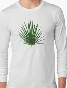 Simple Palm Leaf Geometry Long Sleeve T-Shirt