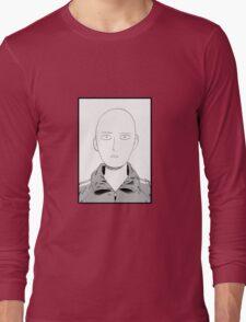 Manga one punch man face Long Sleeve T-Shirt