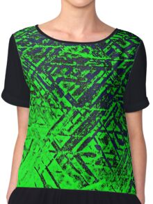 Techno Stone, Green (Texture, Background) Chiffon Top