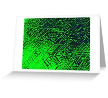 Techno Stone, Green (Texture, Background) Greeting Card