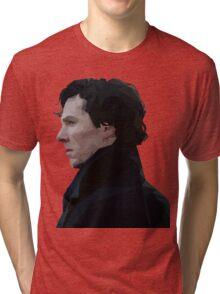 Sherlock Holmes Low Poly Tri-blend T-Shirt