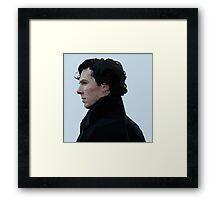 Sherlock Holmes Low Poly Framed Print