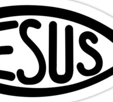Jesus fish Sticker