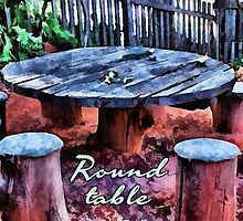 Round table by Fernando Fidalgo