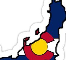 Colorado flag Japan outline Sticker