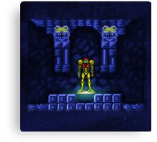 Super Metroid Elevator Canvas Print