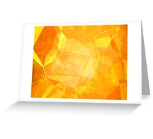 Polygons, Yellow (Wallpaper, Background) Greeting Card