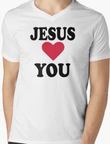 Jesus loves you Mens V-Neck T-Shirt
