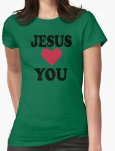 Jesus loves you Womens Fitted T-Shirt