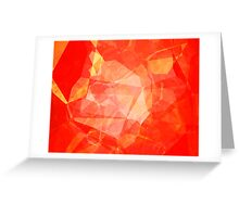 Polygons, Red (Wallpaper, Background) Greeting Card
