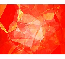 Polygons, Red (Wallpaper, Background) Photographic Print