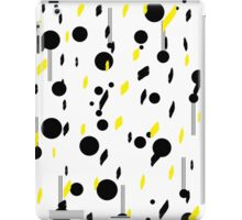 art of black and yellow iPad Case/Skin