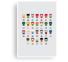 Superhero Alphabet Canvas Print