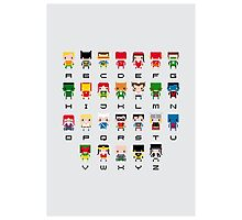Superhero Alphabet Photographic Print