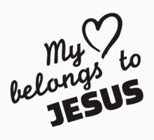 My heart belongs to Jesus One Piece - Long Sleeve