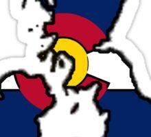 Colorado flag England outline Sticker