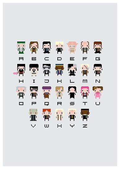 Harry Potter Alphabet by Sergey Vozika