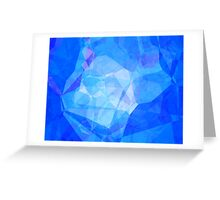 Polygons, Blue (Wallpaper, Background) Greeting Card