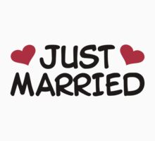Just Married Wedding One Piece - Short Sleeve