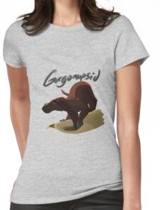 Beach side gorgonopsid Womens Fitted T-Shirt