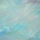 Abstract blue haze float art by Sarah Trett