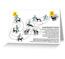 Greyhound Glossary: Navigreytion Greeting Card