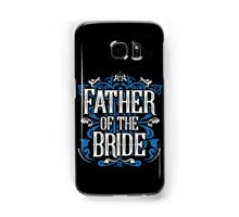 Father of the Bride Groom Blue White Black Ornate Scroll Wedding Bachelor Party Stag Groom's Mob Engagement Samsung Galaxy Case/Skin