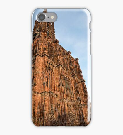 Strasbourg Cathedral in sunset light, France iPhone Case/Skin