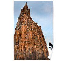 Strasbourg Cathedral in sunset light, France Poster