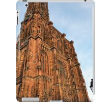 Strasbourg Cathedral in sunset light, France iPad Case/Skin