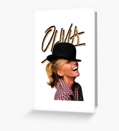 OLIVIA TOTALLY HOT Greeting Card