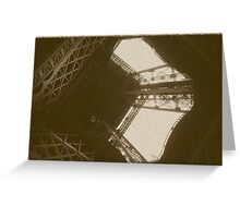 Eiffel Tower In Sepia Greeting Card