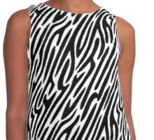 Zebra stripes print 2, fun bold animal print design in black and white, classic statement fashion clothing, soft furnishings and home decor  Contrast Tank
