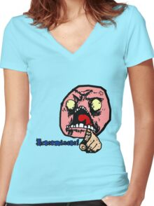 Exterminate Exterminate Women's Fitted V-Neck T-Shirt