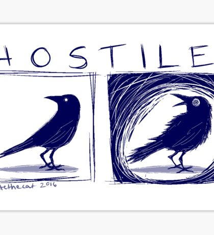 Hostile Crow Sticker