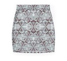 black biro triangled cubic hexagons Mini Skirt