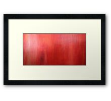 Ember Glow Haze red acrylic modern abstract painting Framed Print