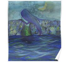 Moonlit Mermaid Poster