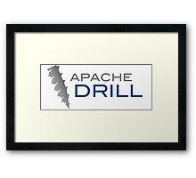 apache drill hadoop framework bigdata Framed Print