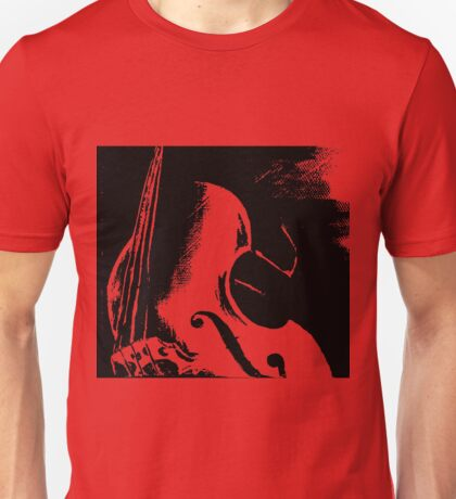 Double Bass Silhouette Painting Unisex T-Shirt
