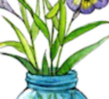 Watercolor Flower in Mason Jar Sticker