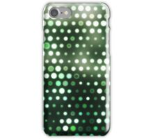 Dots, Green (Wallpaper, Background) iPhone Case/Skin