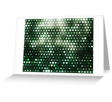 Dots, Green (Wallpaper, Background) Greeting Card