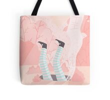 Alice And The Rabbit Hole Tote Bag