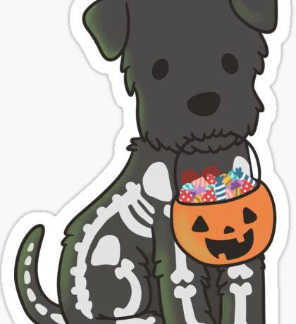 Halloween Schnauzer Sticker