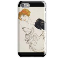 Egon Schiele - Woman In Black Stockings 1913 iPhone Case/Skin