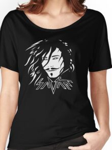 Savant - White and black Women's Relaxed Fit T-Shirt