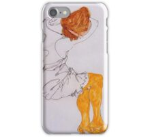 Egon Schiele - The Sleeping Girl 1913 iPhone Case/Skin